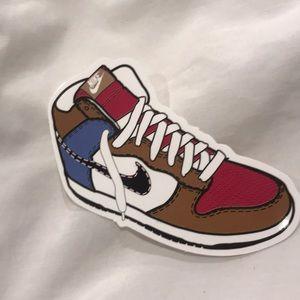 Single NIKE shoe sticker